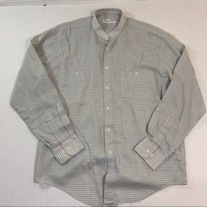 Men's Yves Saint Laurent Plaid Button Shirt 16 L
